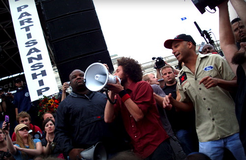 Rage Against The Machine Protest