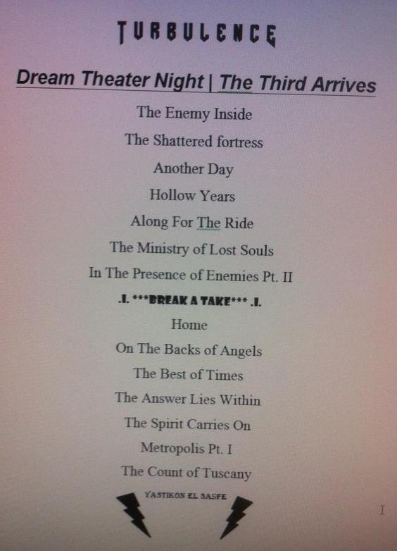 DT Night 3 Playlist